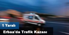 Erbaa'da Trafik Kazası: 1 Yaralı