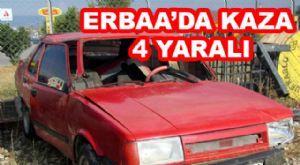 Erbaa'da Trafik Kazası: 4 Yaralı