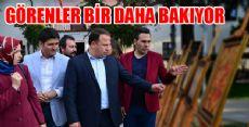 Erbaa'da Yağlı Boya ve Ebru Sergisi Açıldı