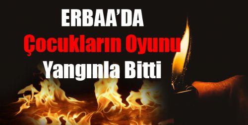Erbaa'da Yangın Ucuz Atlatıldı