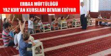 Erbaa'da Yaz Kur'an Kursları Devam Ediyor