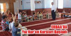 Erbaa'da Yaz Kur'an Kursu Heyecanı Başladı