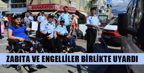 Erbaa'da Zabıtalar Engellilerle Birlikte Uygulama Yaptı