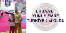 Erbaa'lı Minik Emre Türkiye 2.si Oldu