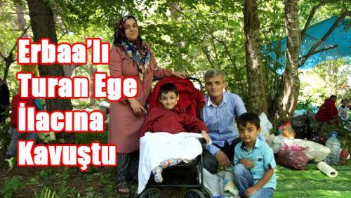 Erbaa'lı SMA hastası Turan Ege, ilacına kavuştu