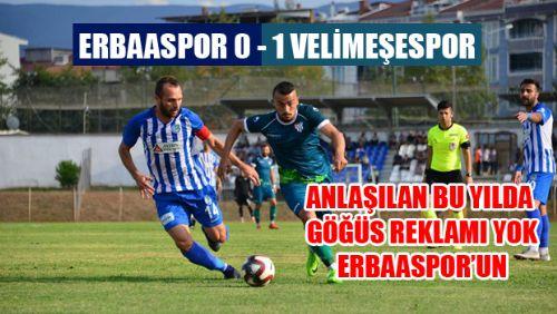 Erbaaspor 0 - 1 Ergene Velimeşespor