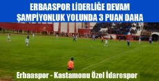 Erbaaspor 3 - 0 Kastamonu Özel İdarespor