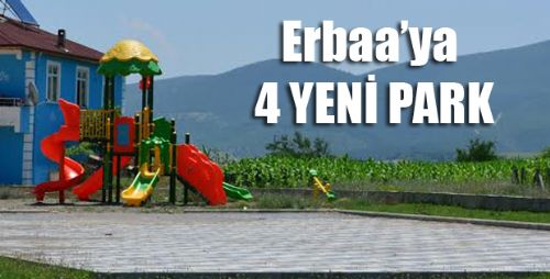 Erbaa Belediyesinden 4 Yeni Park