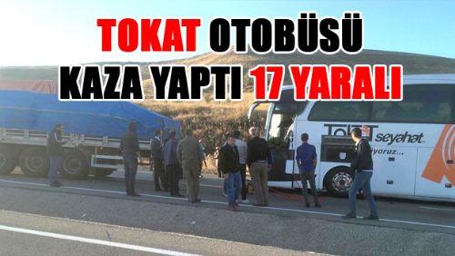 Erzurum'da Tokat otobüsü ile TIR çarpıştı: 17 yaralı