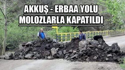 GÖKAL-KARGI YOLU KAPATILDI