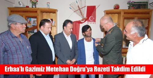 Gazi Metehan Doğru'ya Rozeti Takdim Edildi