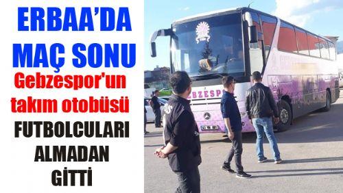 Gebzespor Küme Düştü Takım Otobüsü Futbolcuları Erbaa'dan Almadan Gitti