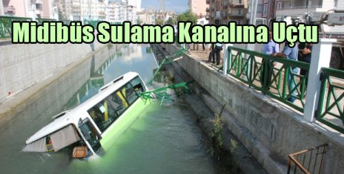 Halk Midibüsü Sulama Kanalına Düştü: 5 Yaralı