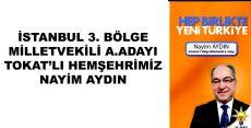 İSTANBUL 3. BÖLGE MİLLETVEKİLİ A.ADAYI