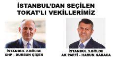 İSTANBUL'DAN SEÇİLEN TOKAT'LI VEKİLLERİMİZ