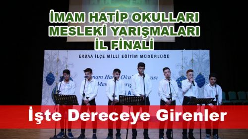 İmam Hatip Okulları Arası Mesleki Yarışmaları İl Finali Ödül Töreni Erbaa'da Yapıldı