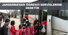 Jandarma Servis Otobüslerini Denetledi