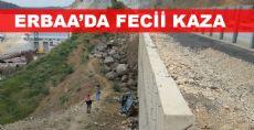 KARANLIK DEREDE FECİİ KAZA
