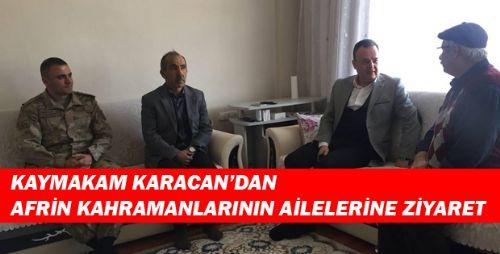 KAYMAKAM KARACAN'IN ZİYARETLERİ DEVAM EDİYOR