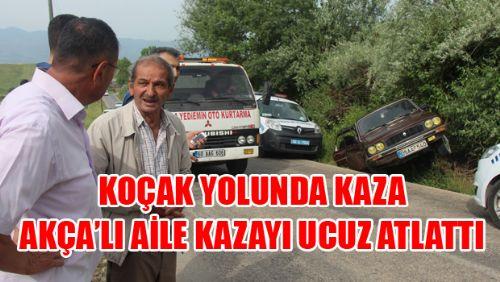 KOÇAK YOLUNDA KAZA
