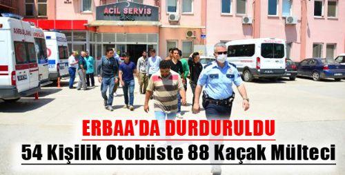 Kaçak Mülteciler Erbaa'yı Geçemedi
