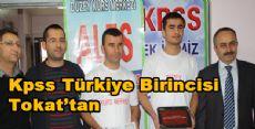 Kpss Türkiye Birincisi Tokat'tan