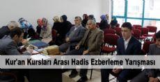 Kur'an Kursları Arası Hadis Ezberleme Yarışması Düzenlendi