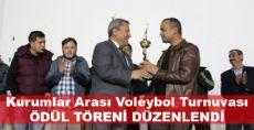 Kurumlar Arası Voleybol Turnuvası Ödül Töreni Yapıldı