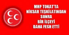 MHP Artova İlçe Teşkilatı Feshedildi