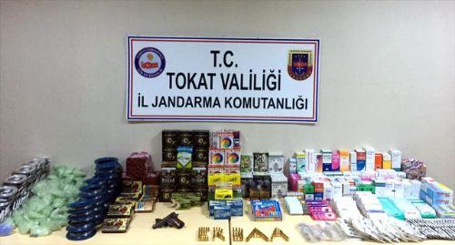 Markette İzinsiz Tıbbi İlaç, Av ve Silah Malzemeleri Satışı
