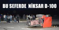 NİKSAR'da Otomobille Traktör Çarpıştı