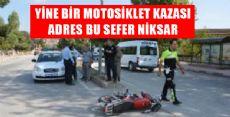 Niksar'da Otomobil ile Motosiklet Çarpıştı: 1 Yaralı