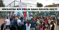 Niksar'da Spor Alanlarının Açılışı Yapıldı