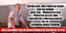 ÖĞRENCİLER SARI MISTIK AMCALARINI İSTİYOR