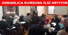 OSMANLICA KURSUNA İLGİ ARTIYOR