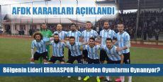 Osmancıkspor Erbaaspor AFDK KARARI