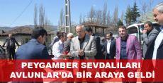 PEYGAMBER SEVDALILARI AVLUNLAR'DA BİR ARAYA GELDİ