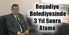 Reşadiye Başkan Yardımcılığına 3 Yıl Sonra Atama