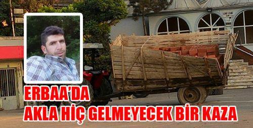 Römork Lastiği Erbaa'da Can Aldı