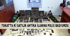 SATILIK ANTİKA İLANINA POLİS BAŞVURDU