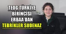 TEOG BİRİNCİSİ ERBAA'DAN TEBRİKLER SUDENAZ