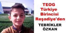 TEOG Türkiye Birincisi Reşadiye'den Çıktı