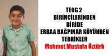 TEOG2 BİRİNCİSİ ERBAA'DAN