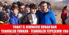 TOKAT İL BİRİNCİSİ ERBAA'DAN