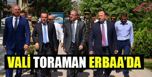 TOKAT VALİSİ ÖMER TORAMAN ERBAA'DA