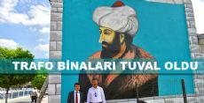 TURHAL'DA TRAFO BİNALARI TUVAL OLDU