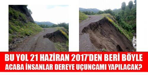 Tokat Erbaa'da Tehlikeli Bir Yol Hikayesi