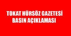 Tokat Hürsöz Gazetesi Basın Açıklaması