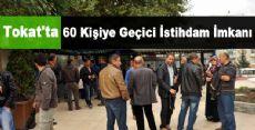 Tokat'ta 60 Kişiye Geçici İstihdam İmkanı