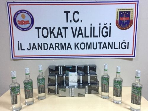 Tokat'ta Kaçak Rakı ile Sigara Operasyonu